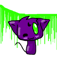 Purple kitty cat by strangetail