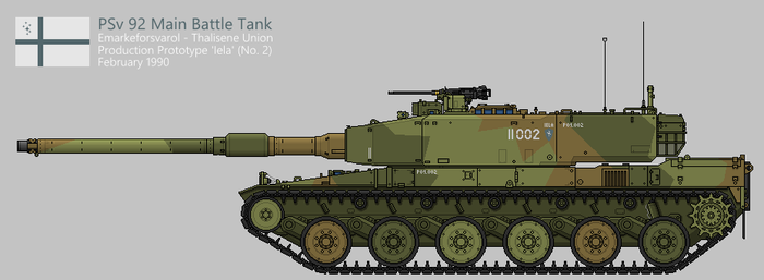 PSv 92 Main Battle Tank [Coloured] by SixthCircle