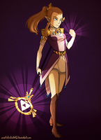 Battle Mage Zelda by AnArtistCalledRed