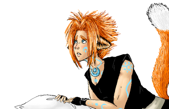 Kitsune Jay iScribble doodle by Sferath