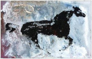 horse 4 Postcard front by JabLab