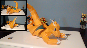 Dragonite papercraft by mechanicalraven56