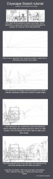 Cityscape Sketch tutorial by kasai