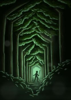 Meager Quest - The Forest by cheyras