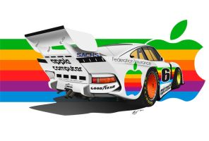 Porsche 935 K3 Group 5 Apple Computer by LindStyling
