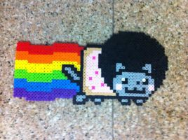 Afro Nyan cat by Birdseednerd