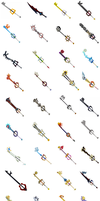 Keyblades Wallpaper by reaver570