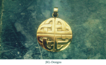 Brass Celtic Cross Pendant by JKL-Designs