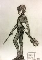 Character Sketch in Pencil by YuzaHunter