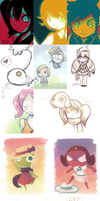 Keroro Sketch Dump Part 2 by Sylladexter