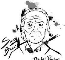 Brushpen Art- William Hartnell (Commission ver.) by DoctorSiggy