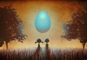 Cosmic Egg by bearmantooth