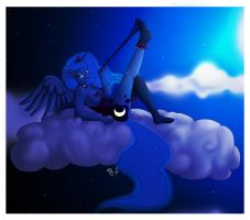 Luna and I Thanks You for Over 5000 Pageviews by Ms-Seven0