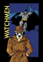 Rorschach Batman in color by JLillustrator