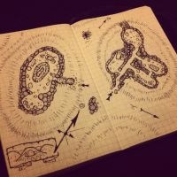 Burial mounds barrows fantasy map by billiambabble