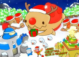 Carbot StarCrafts Christmas FanIllust X-Maswarm by CountryGump