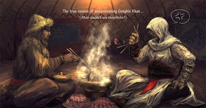 Truth of killing Genghis Khan by sunsetagain