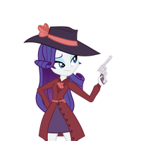 Detective Rarity (no bg, hat) by DarthLena