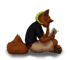 Byouki is a-reading by Crazy-Book-Worm