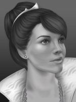 Queen BW by DinyGirl