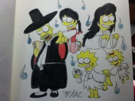 The simpsons:Ghosty korean style familys by komi114