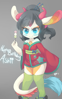 HappybirthdayAshii by RollingSwitch