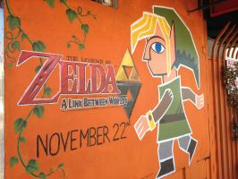 The Legend of Zelda: A Link Between Worlds Mural by NHMorrissey