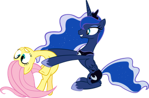 Luna Giving Fluttershy a Hug by RyantheBrony