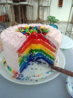 Rainbow Cake by PnJLover