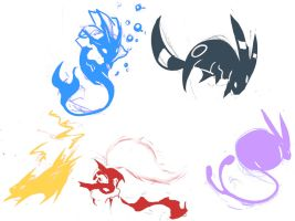 Pokemon colour tatto's by WireBear