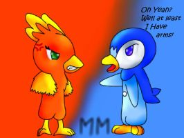 Torchic Vs Piplup by EmpurrorMooks