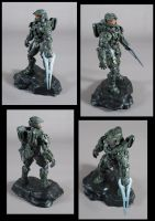 Halo 4 Master Chief Statue Painted by xar8