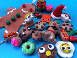 My Polymer Clay Charms :3 by Claycupcakes4