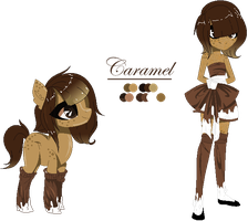 [Commission] Reference Sheet - Caramel by MayDeeDraws