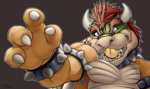 Bowser FACE by teaselbone
