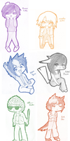 Aww Dude Chibis by oxEmi-chanxo
