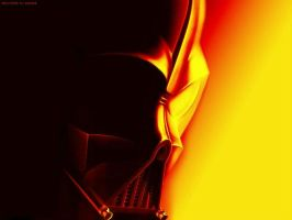 Vader Mask fire by Emersonpriest
