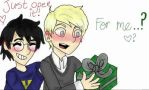 A present for Malfoy! by pokemonpuppy1
