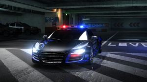 audi R8 police. NFS by DazKrieger