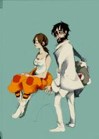 Rattman and Chell by faQy