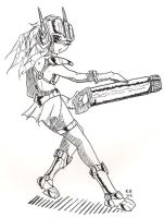 Short skirt - big cannon by peppermintwind