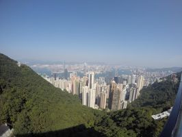 Hong Kong from the peak by kuroihikari