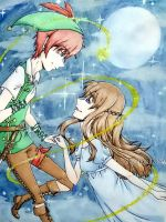 Peter Pan x Wendy Darling by SilentSoul2849