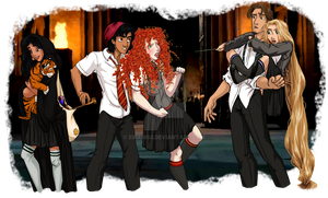 Disney at Hogwarts: 3/8 by Eira1893
