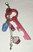 Eat me Drink me keyring by Lovelyruthie