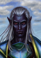 Drow portrait by undeadcrabstick