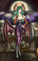 -DarkStalkersTribute- Morrigan by AlineMendes