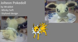 Jolteon Pokedoll by theamazingwrabbit