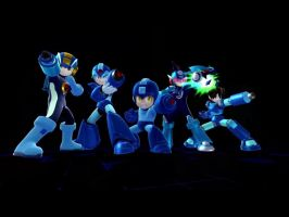 Mega Men Final Smash Posing by LightDemonCodeH