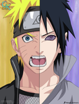 NS Cover: Naruto vs Sasuke by IITheDarkness94II